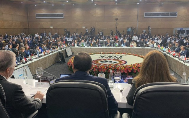 Uruguay se retira de Asamblea de la OEA - Foto de Twitter OEA