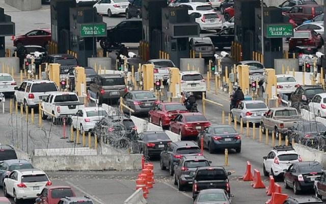 Roban fotos de viajeros y matrículas a Aduanas y Protección Fronteriza - Paso fronterizo hacia EE.UU. Foto de Daily Mail