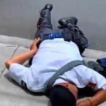 #Video Conductor lesiona a policía de tránsito en Irapuato