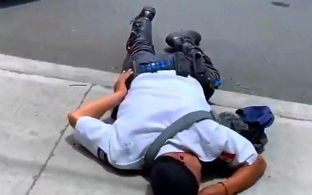 #Video Conductor lesiona a policía de tránsito en Irapuato - agresión irapuato
