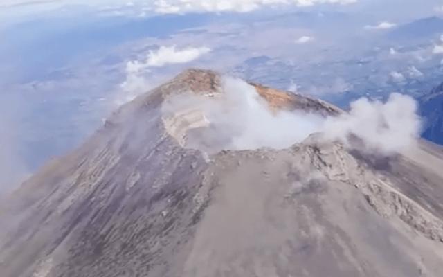 Explosión del Popocatépetl genera columna de ceniza; no se ha formado nuevo domo de lava - Captura de pantalla