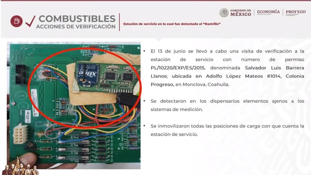 'Rastrillo' hallado en gasolinera de Monclova. Captura de pantalla