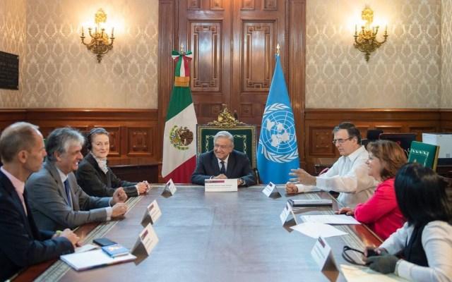 Gobierno de México y Unicef trabajan en pro de niños migrantes - Reunión entre el Gobierno de México con la Unicef. Foto de @lopezobrador_