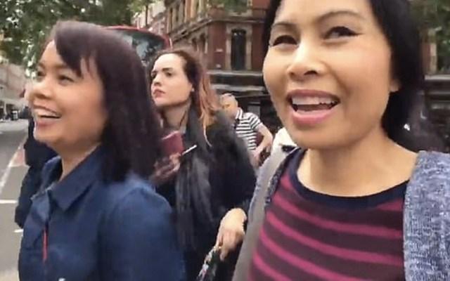 #Video Carteristas roban a turista en el centro de Londres - Captura de pantalla