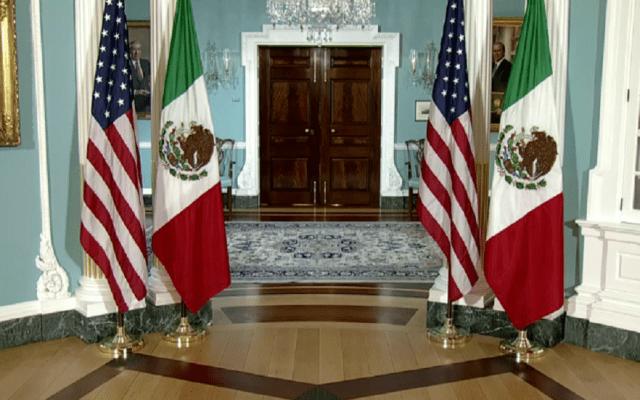 La postura es conservar ante todo la amistad con EE.UU.: López Obrador - Sala del Departamento de Estado de Estados Unidos. Foto de @mexico.usembassy