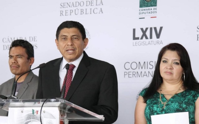 Comisión Permanente del Senado se tomará 10 días por falta de acuerdos - Salomón Jara, vocero de la bancada de Morena en el Senado. Foto de @salomonj