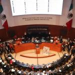 Senado de la República ratifica el T-MEC - Pleno del Senado. Foto de @NoticiaCongreso