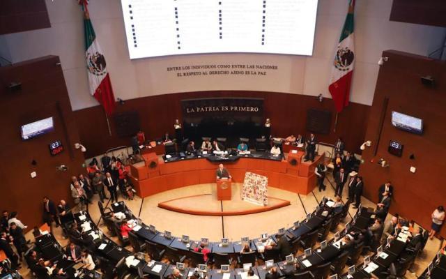Va Morena por reformas a tres leyes del sistema financiero y banquero del país - Pleno del Senado. Foto de @NoticiaCongreso