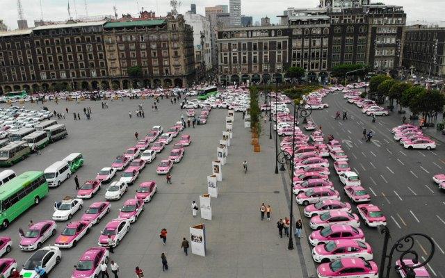 Saldo blanco tras protestas de taxistas; acuerdan diálogo en Gobernación - Taxistas