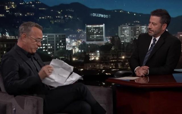 Tom Hanks revela lo que Disney le impide decir sobre 'Toy Story 4' - Foto de Jimmy Kimmel Live