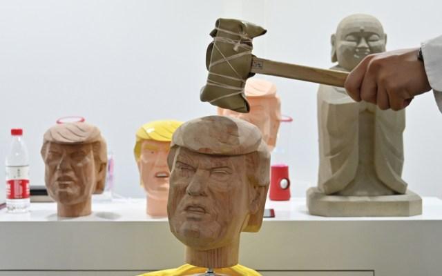 Presentan dispositivo para aliviar el estrés golpeando a Donald Trump - Foto de AFP