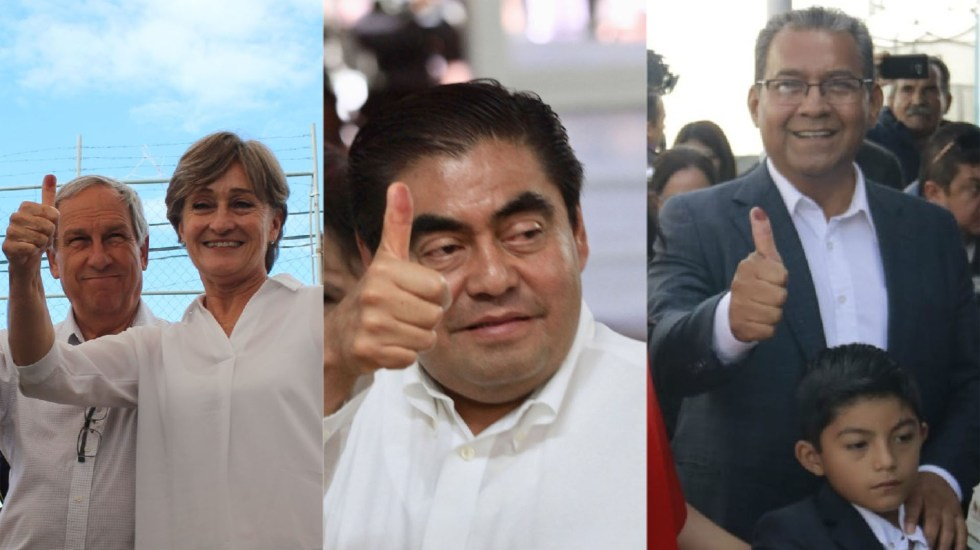 Cárdenas, Barbosa y Jiménez votan para gobernador de Puebla - Voto de candidatos a la gubernatura de Puebla. Foto de Notimex / LDD