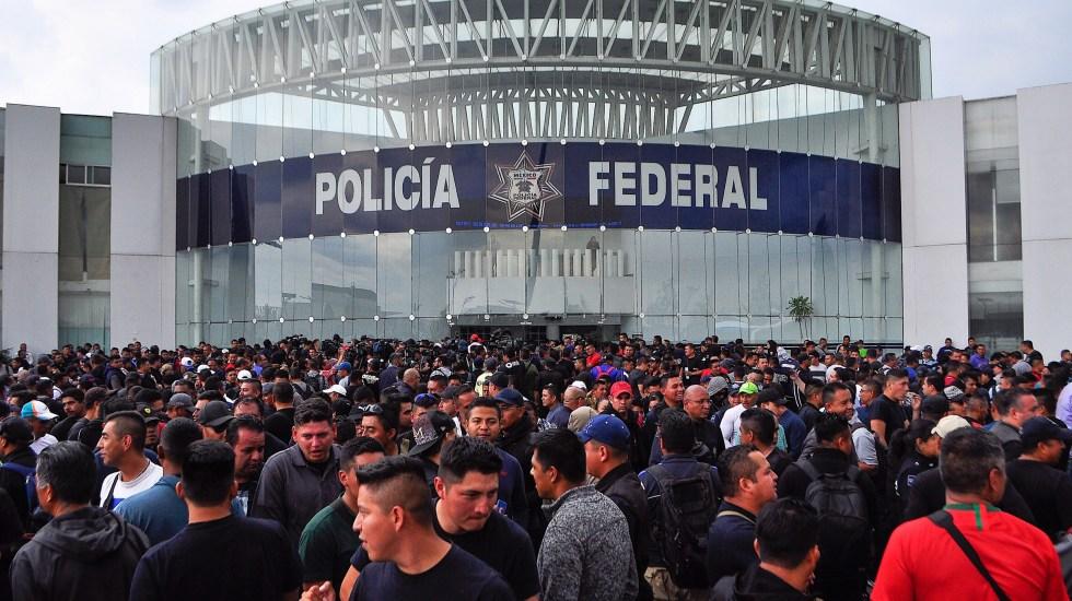Policías federales exigen ser incluidos en negociación con gobierno - Foto de Notimex/Isaías Hernández