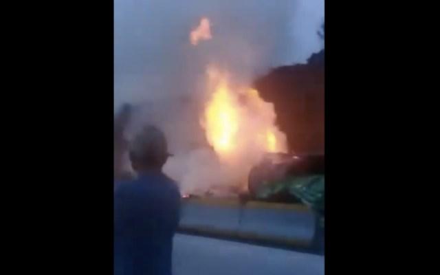Dos muertos por choque en la autopista México-Puebla - Foto de @IvanrFierro