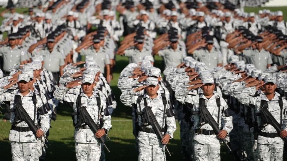 Bosque de Chapultepec albergará a la Guardia Nacional en la CDMX - Agentes de la Guardia Nacional. Foto de Gobierno de México