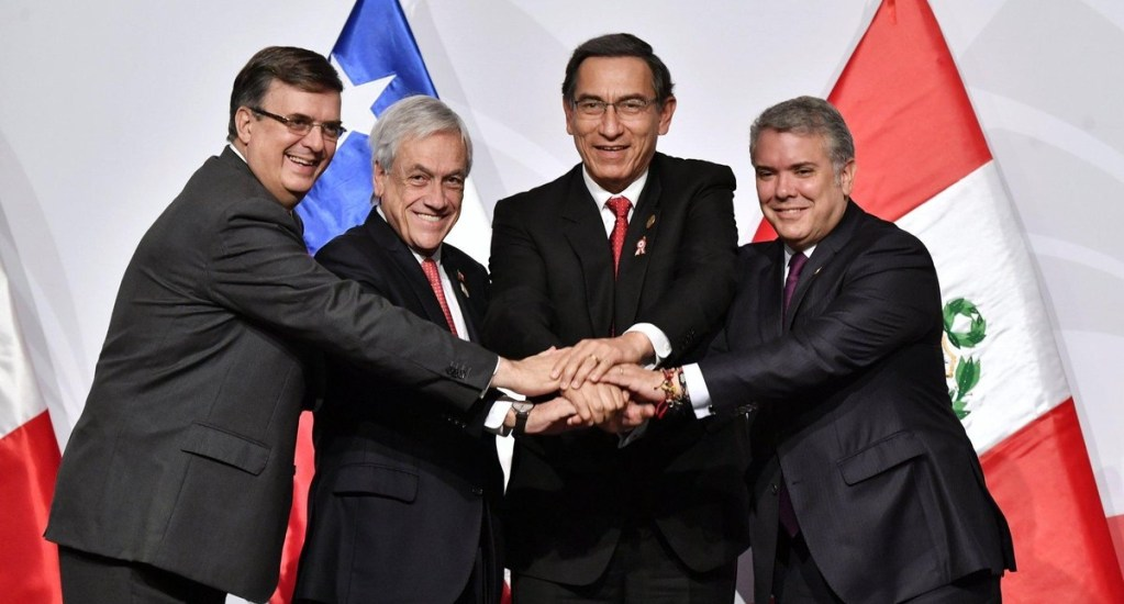 Alianza del Pacífico manifiesta respaldo al libre comercio - Alianza del Pacífico libre comercio reunión