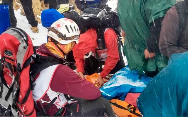 Rescatan a hombre tras caída en el Iztaccíhuatl - alpinista Iztaccíhuatl