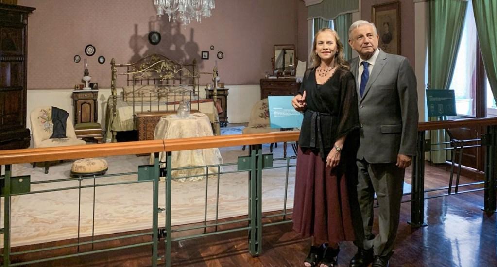 López Obrador recorre habitación de Benito Juárez en Palacio Nacional - AMLO Andrés Manuel López Obrador Benito Juárez