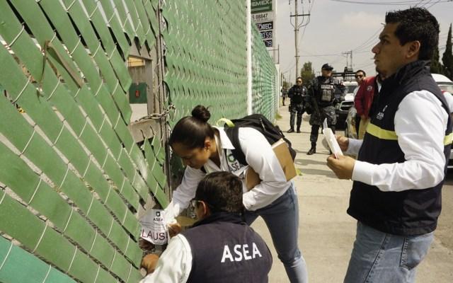 Clausuran cuatro estaciones de gas LP en el Estado de México - Foto de ASEA