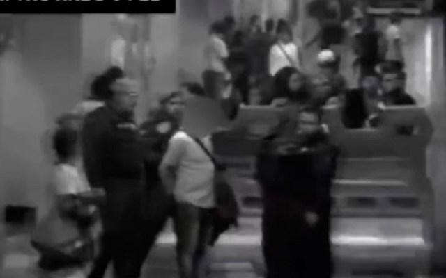Aseguran a 'El Chocorrol', presunto líder de carteristas en el Metro - Aseguramiento de El chocorrol Foto del SCT Metro
