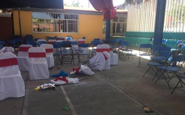 Balacera en ceremonia de graduación de primaria en Puebla - Foto de e-Consulta
