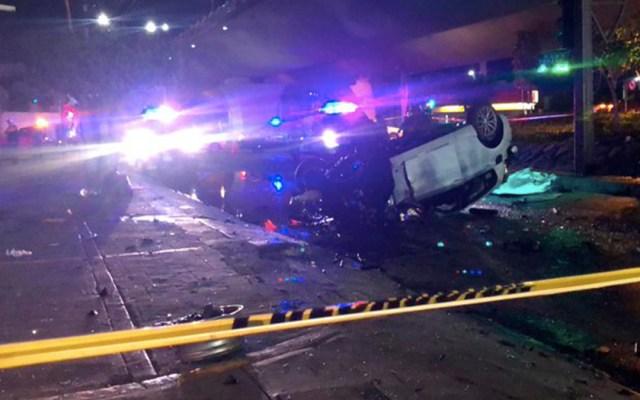 BMW cae de puente en Querétaro por ir jugando carreritas - bmw puente querétaro