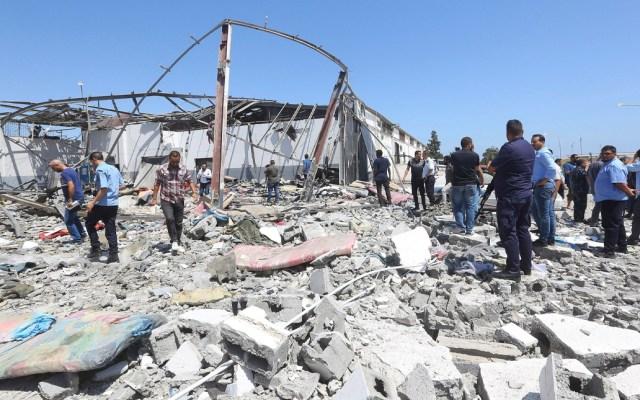 Bombardeos en Trípoli deja al menos 40 migrantes muertos - bombardeos