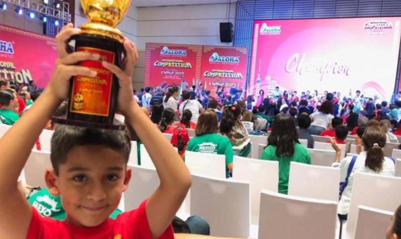 Niño mexicano es campeón mundial de cálculo mental - Campeonato Mundial de Cálculo Mental. Foto de El Universal