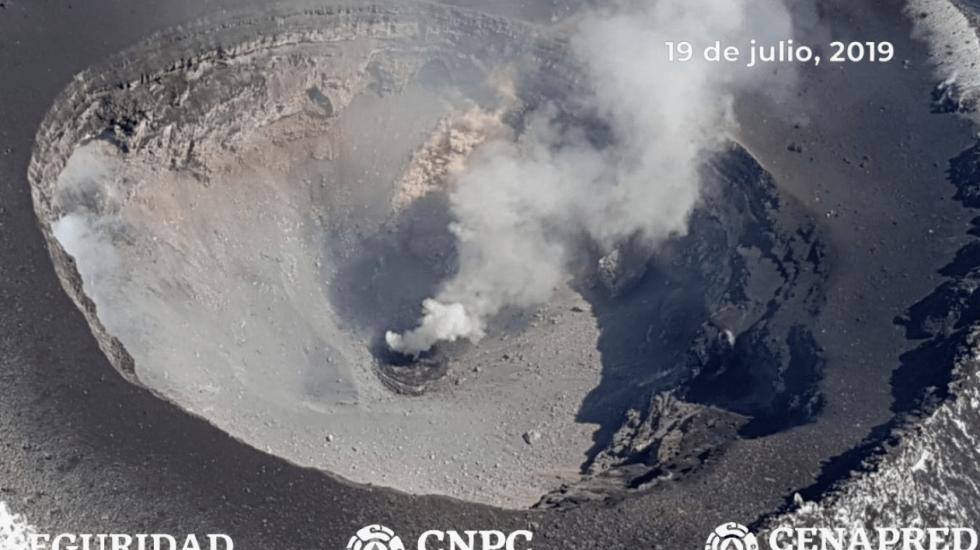 #Video Identifican formación de nuevo domo en el volcán Popocatépetl - Foto de Secretaría de Seguridad y Protección Ciudadana