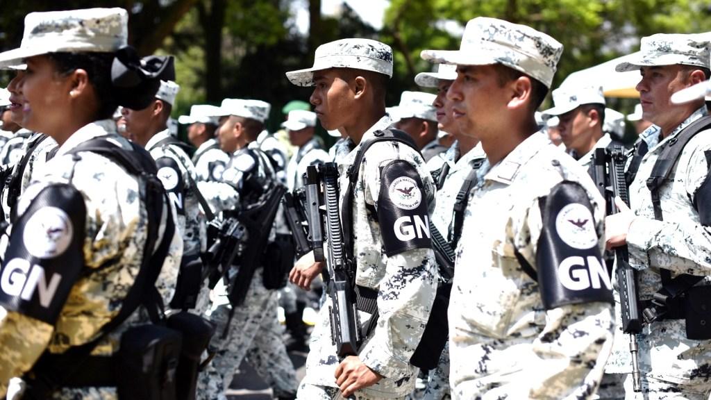 Michoacán contará con 4 mil 050 elementos de la Guardia Nacional - Elementos de la Guardia Nacional en desfile por el Campo Marte. Foto de Notimex