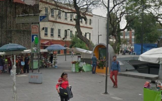 Cerrarán, hasta nuevo aviso, acceso norponiente del Metro Hidalgo por celebraciones de San Judas - Entrada al Metro Hidalgo por Roma Norte. Foto de Google Maps