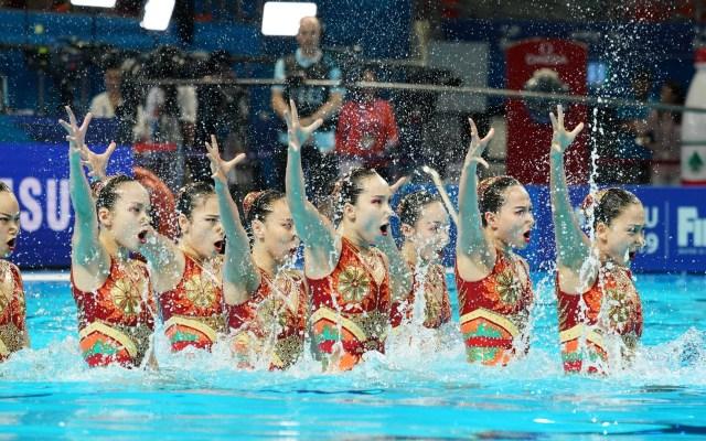 Equipo de China gana plata en Campeonato Mundial de Natación - El equipo de Natación Artística de China se llevó la medalla de plata en el Campeonato Mundial de Natación que se celebra en Corea del Sur. El país acumula 18 medallas. Foto de EFE/EPA/ANTONIO BAT