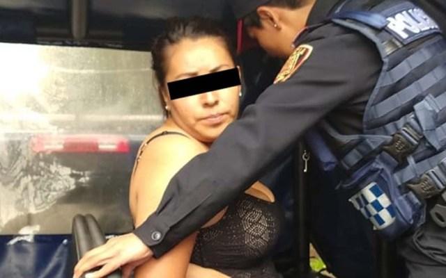 Traslado de Esperanza Gutiérrez fue por su temor a ser agredida: Ruiz Ortega - Esperanza N. tras su detención. Foto Especial / Milenio