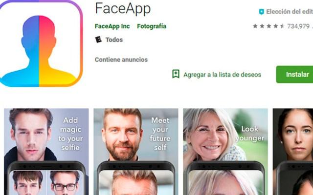 Los riesgos de utilizar FaceApp - faceapp