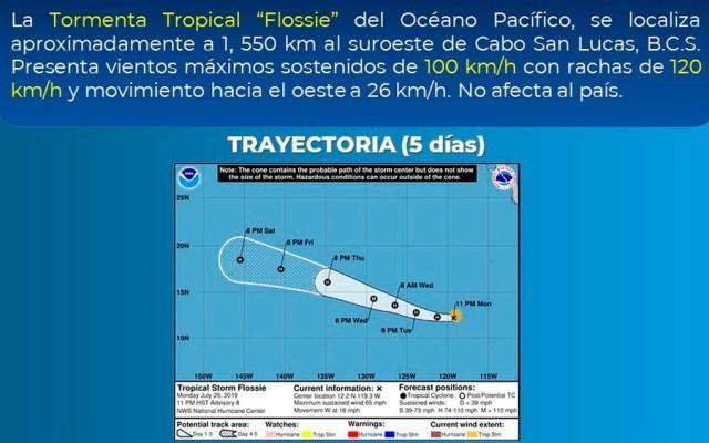 Tormenta tropical Flossie se aleja de costas mexicanas - flossie