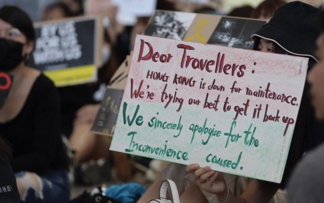 #Video Protesta en aeropuerto de Hong Kong - Foto de Free Hong Kong Press