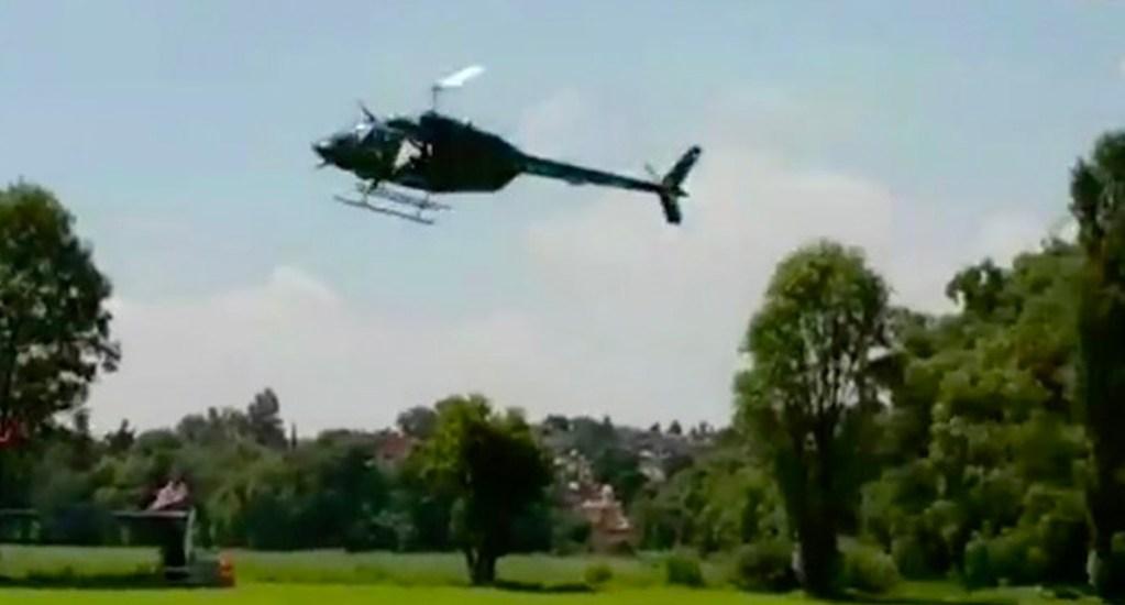 """#Video Cae helicóptero durante grabación de """"El Señor de los Cielos""""; hay dos heridos - Captura de pantalla"""