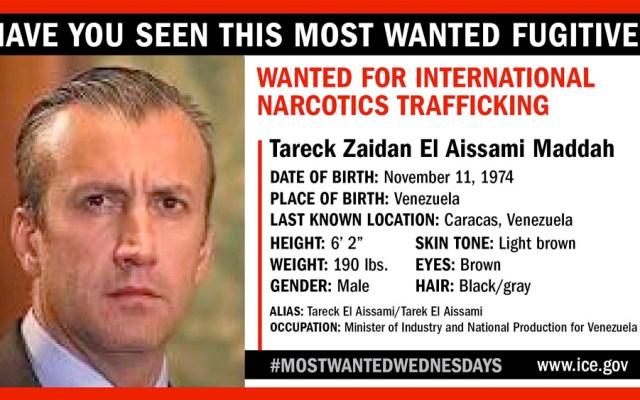 Ministro venezolano Tareck El Aissami en lista de más buscados del ICE - ice Tareck El Aissami