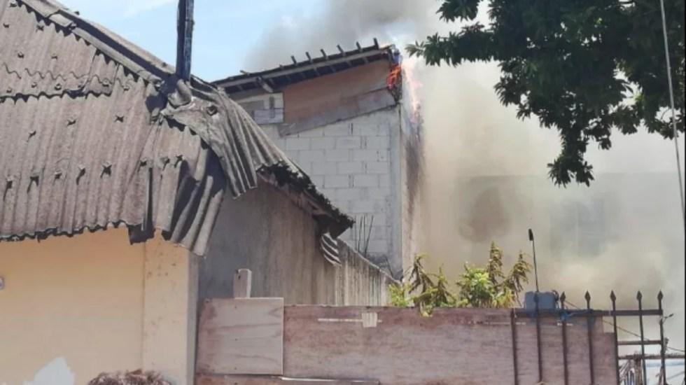 Mueren dos niños en incendio de palapa en Playa del Carmen - incendio playa del carmen