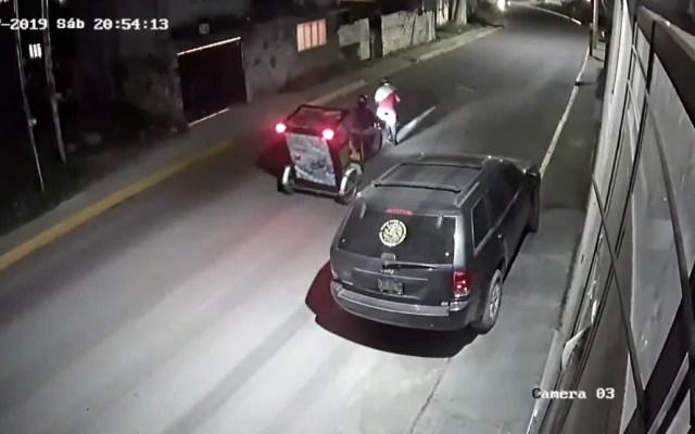 #Video Conductor de mototaxi frustra presunto intento de secuestro en Toluca - Intento secuestro Toluca Estado de México