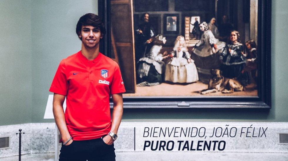 Atlético de Madrid contrata a Joao Félix - Joao Felix Atlético de Madrid