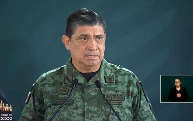 Resalta Sedena avances de seguridad en Nayarit - Luis Cresencio Sandoval en conferencia de López Obrador desde Nayarit. Captura de pantalla