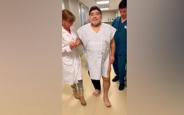 """#Video """"Hoy volví a caminar como cuando tenía 15 años"""": Maradona - Maradona"""