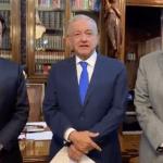 AMLO se reúne con Mario Delgado y Ricardo Monreal en Palacio Nacional - Captura de pantalla