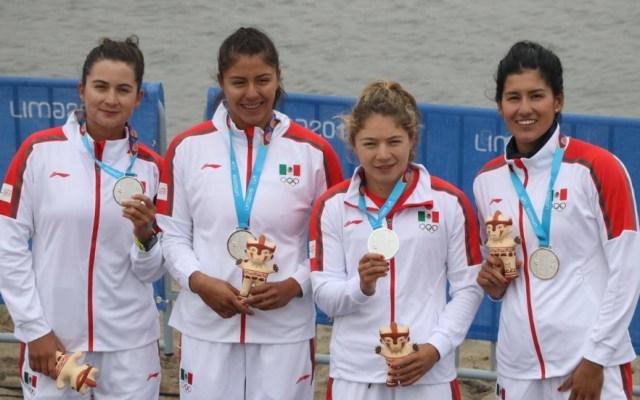 México se lleva la plata en canotaje femenil - Foto de Conade