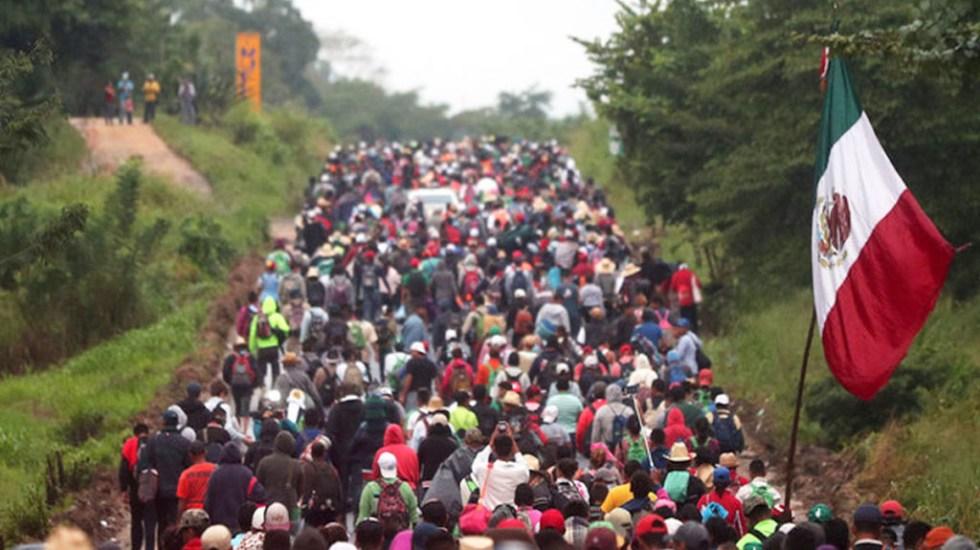 López Obrador aplaude estrategia migratoria - Migrantes en la frontera de México. Foto de Desde la Fe