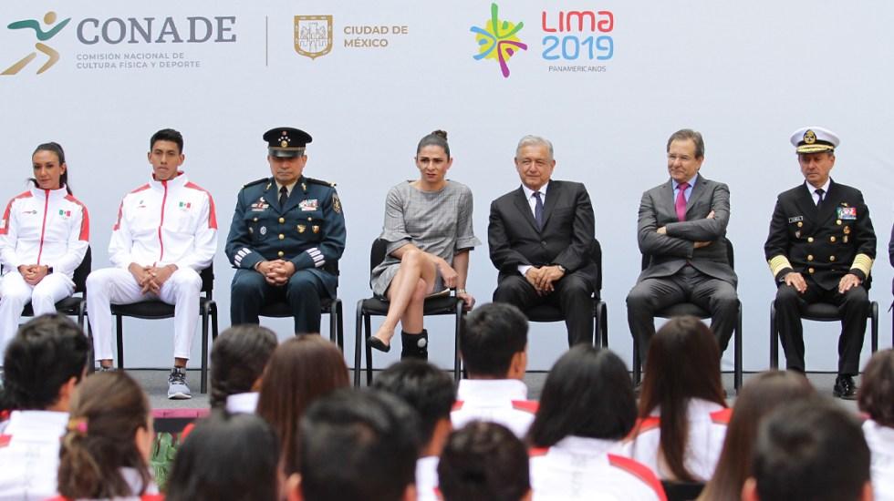 López Obrador abandera delegación mexicana que competirá en los Panamericanos - panamericanos