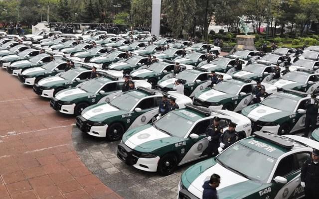 Claudia Sheinbaum entrega 68 patrullas en Azcapotzalco - Foto de Twitter Alcaldía Azcapotzalco