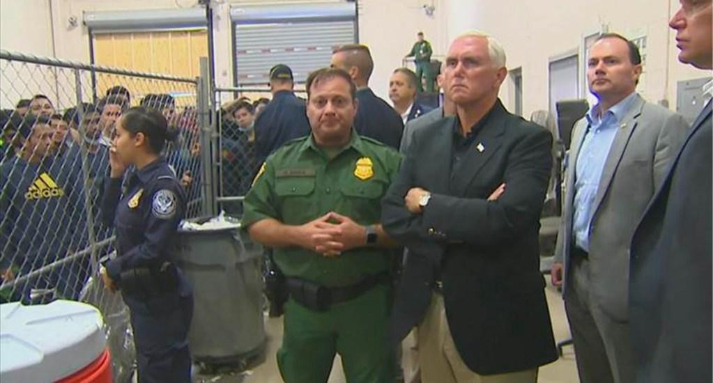 """Pence visita centros de detención de migrantes; le reclaman que """"no hay duchas"""" - pence"""