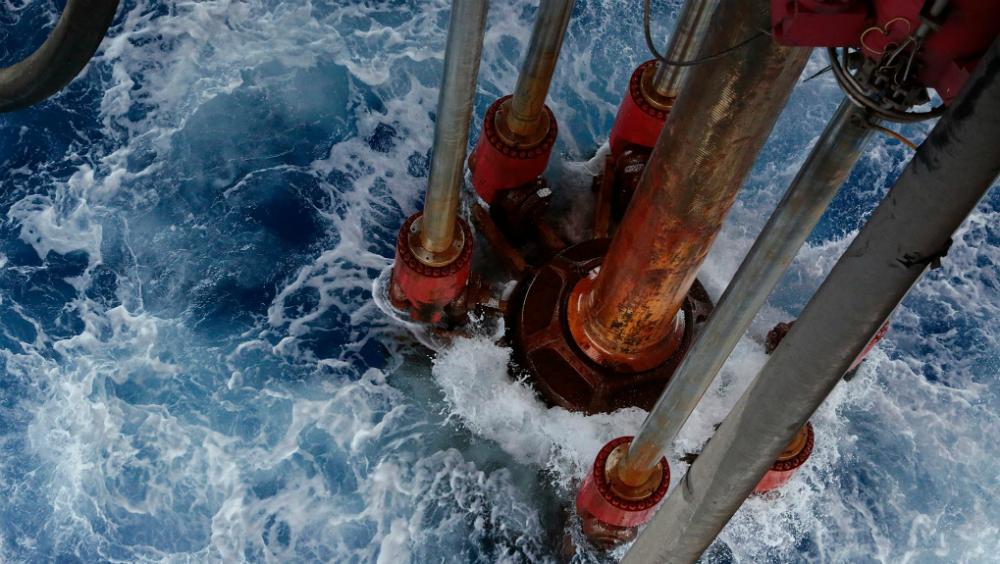 Mezcla mexicana avanza 73 centavos y se vende en 16.06 dólares por barril - Perforación en aguas profundas. Foto de Pemex